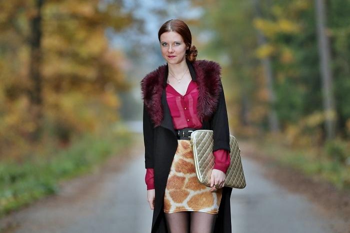 wayfarer, sukně s žirafím potiskem, česká blogerka, praha, lucie srbová