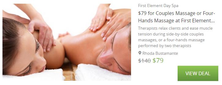 $79 4-handed massage