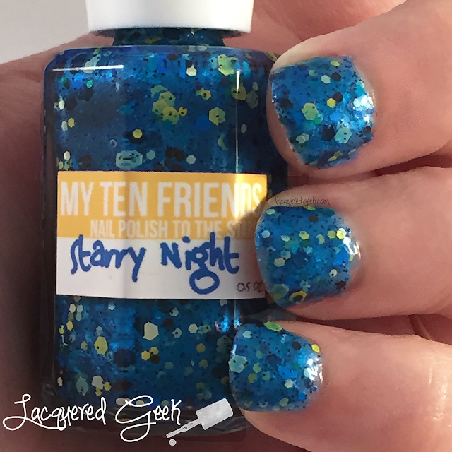 My Ten Friends Starry Night nail polish swatch by Lacquered Geek