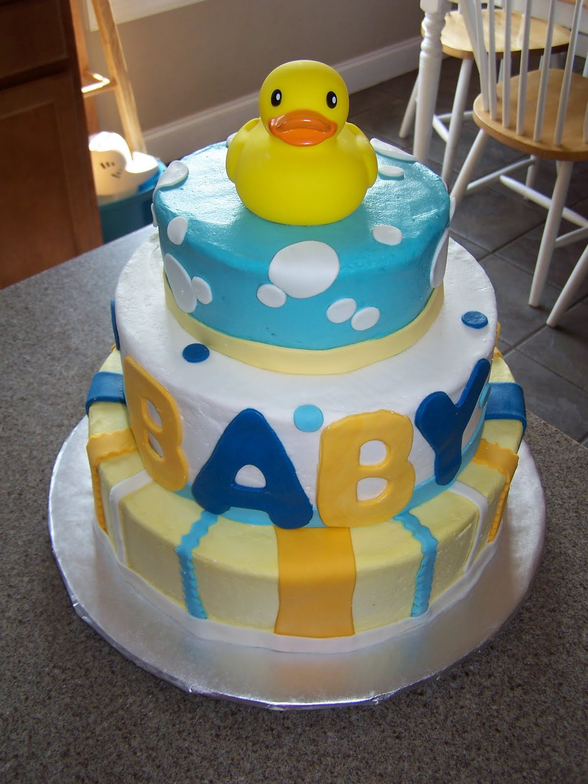 creative cakes n more ducky baby shower cake