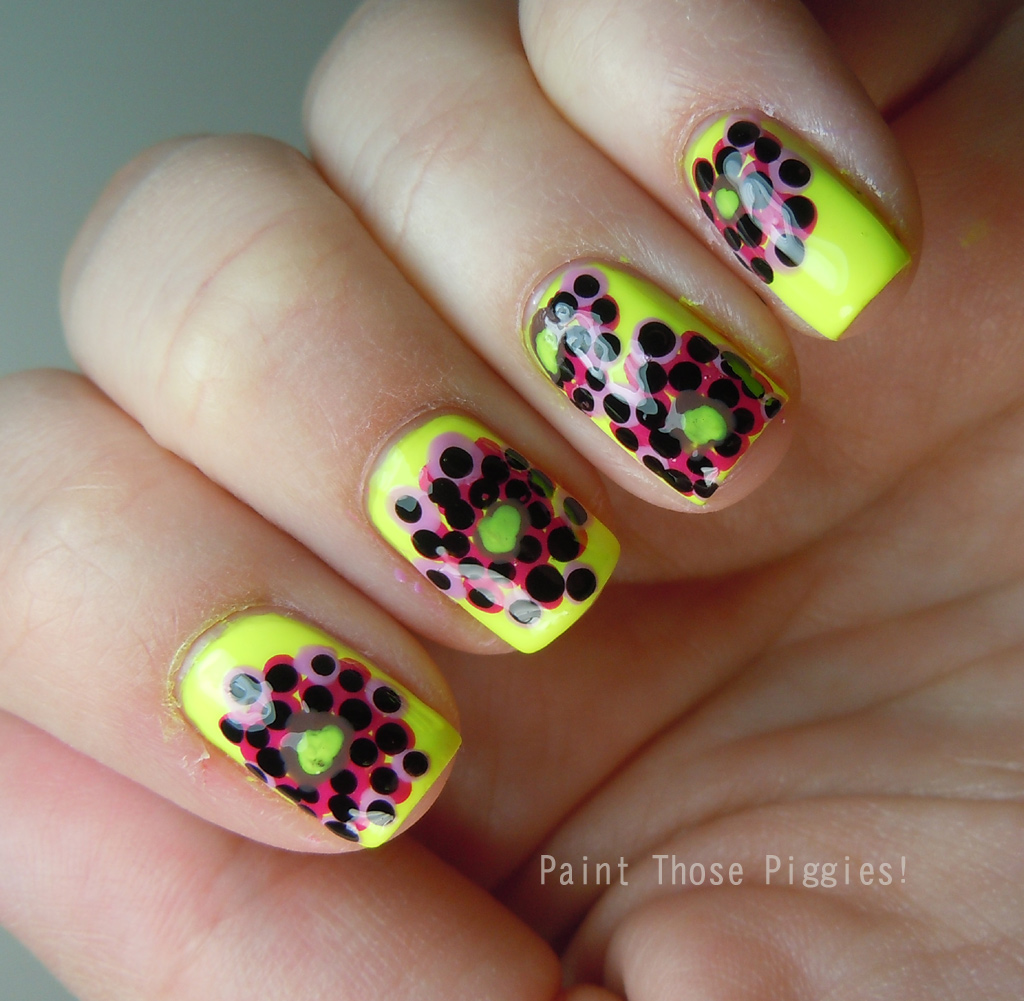 paint those piggies nail art challenge abstract flowers abstract nail art challenge 1024x1001