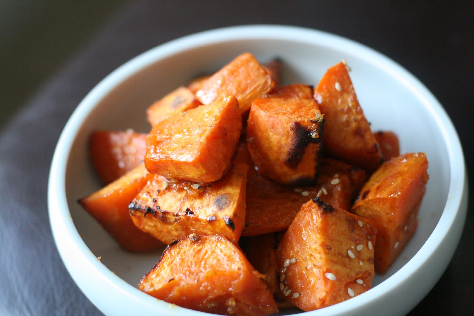 Week of Menus: Roasted Sweet Potatoes with Soy Honey Glaze: On not ...
