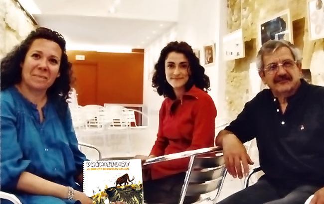 Serge Maury et Clémentine Pace co-auteurs de Préhistoire, à la découverte des chasseurs-cueilleurs publié en Dordogne par Emmanuelle Garcia
