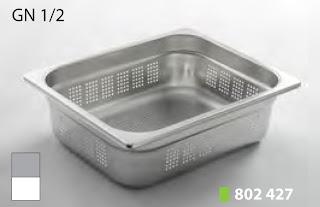 Recipente Gastronomice. Accesorii pentru Dotari HoReCa, Tava Perforata GN 1/2 Inox, Cuva Perforata GN 1/2 Inox, Vascheta Perforata Gastronorm GN 1/2 Inox, Recipiente Inox pentru Bucatarii Profesionale, Pret