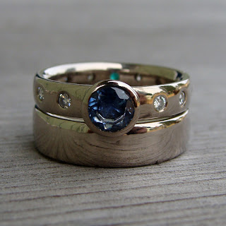 sapphire wedding rings