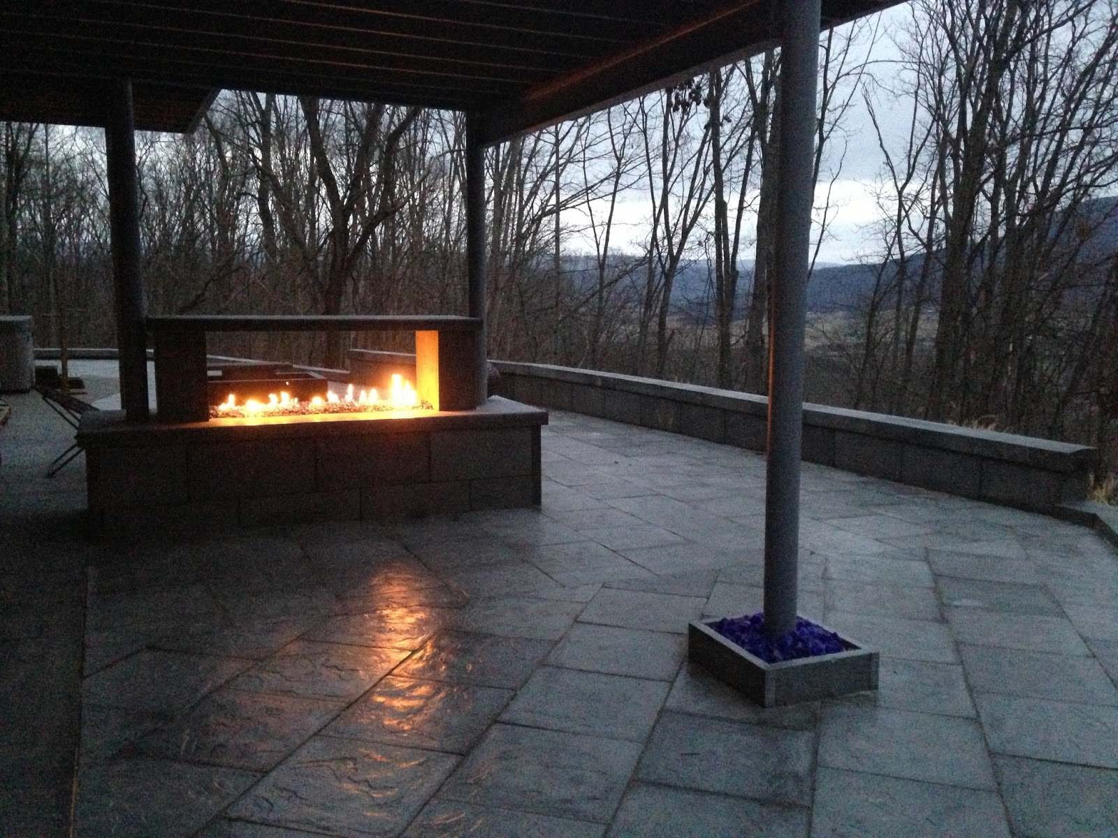 builderscrete cellulose products a see through outdoor fireplace