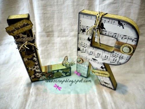 Cleo scrap and the other things va de letras decoradas - Letras decoradas scrap ...