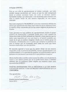 001 Carta de un cliente al equipo Gunitec.