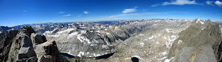 Panoramic View from the summit of Middle Palisade.