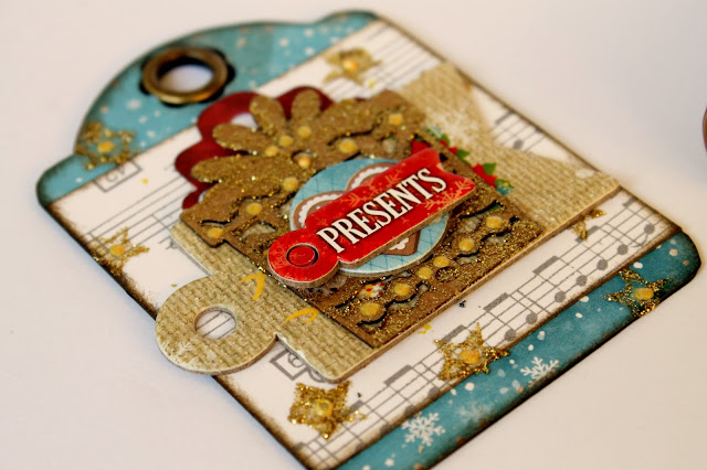 Mixed media paper crafting merry christmas card - Bobunny Merry Merry Mixed Media