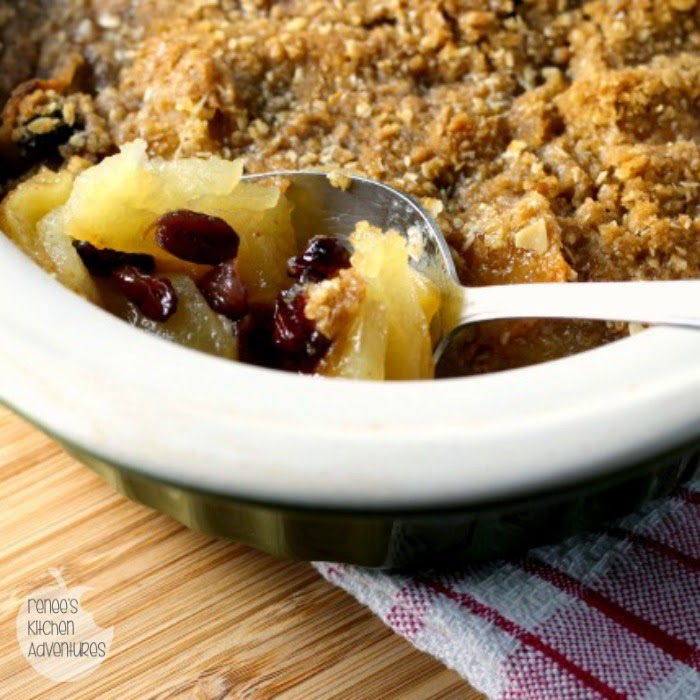 Easy Apple Cranberry Crisp:  Easy dessert full of apples and sweet cranberries