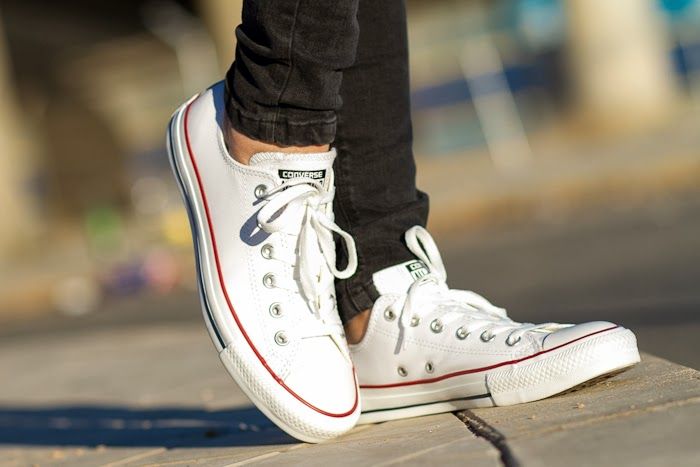 Deportivas de Piel color Blanco Converse All Star OX Leather / Converse All Star OX Leather Trainers in White color JDSports