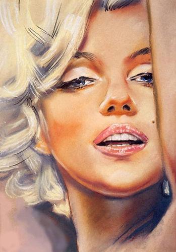 Dazzling divas marilyn monroe art for Marilyn monroe tattoo canvas