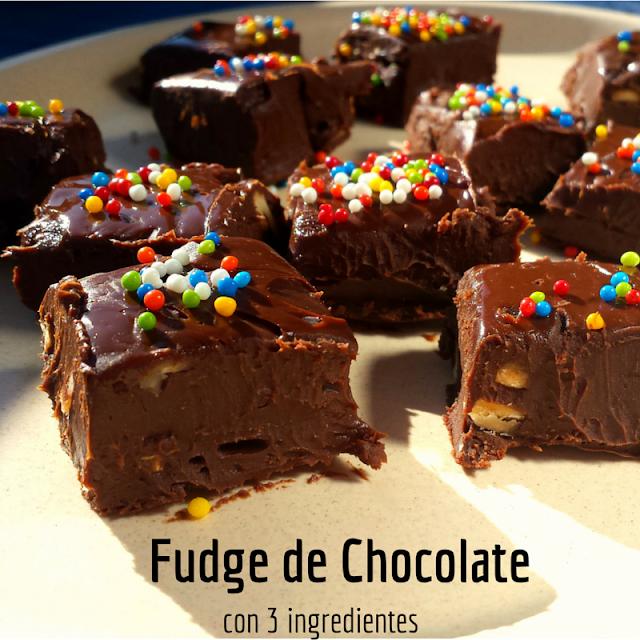 Cómo hacer un Fudge rápido con 3 ingredientes. Receta Libre de Gluten y Lácteos