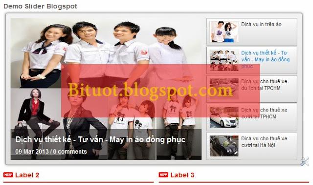 Cách tạo Slider bài mới nhất theo nhãn cho Blogspot