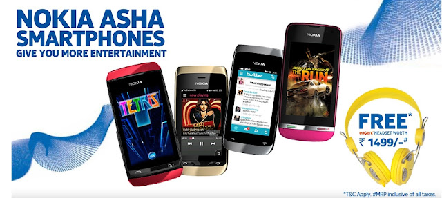 Nokia offers free headphone worth Rs 1,499 on purchase of Asha 305, 308, 310 or 311 smartphones