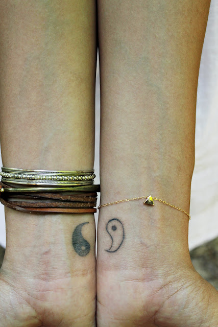 Yin Yang wrist tattoo