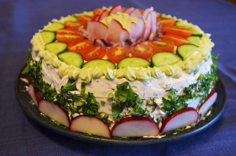 Рецепт бутербродного торта с фото