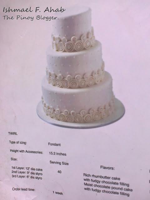 Twirl wedding cake of Red Ribbon Bakeshop