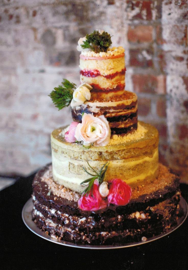 Natural Naked Cakes Wedding Day Inspiration Buffalo Indie