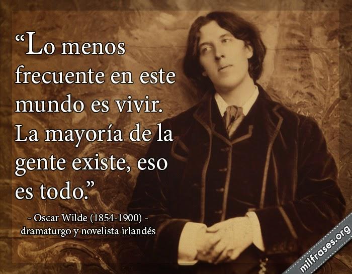 frases, libros y poemas de Oscar Wilde (1854-1900) Dramaturgo y novelista irlandés.
