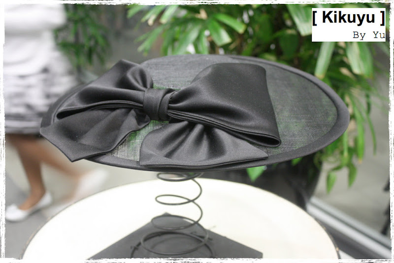 Millinery sinamay satin hat