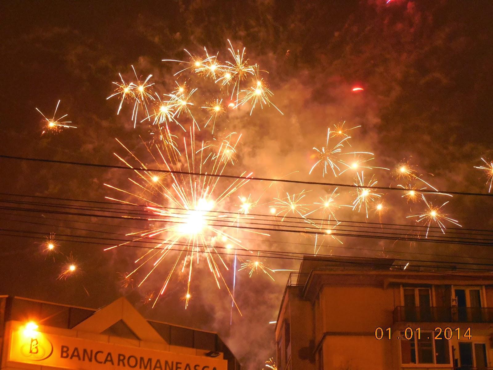 focurile de artificii din centru
