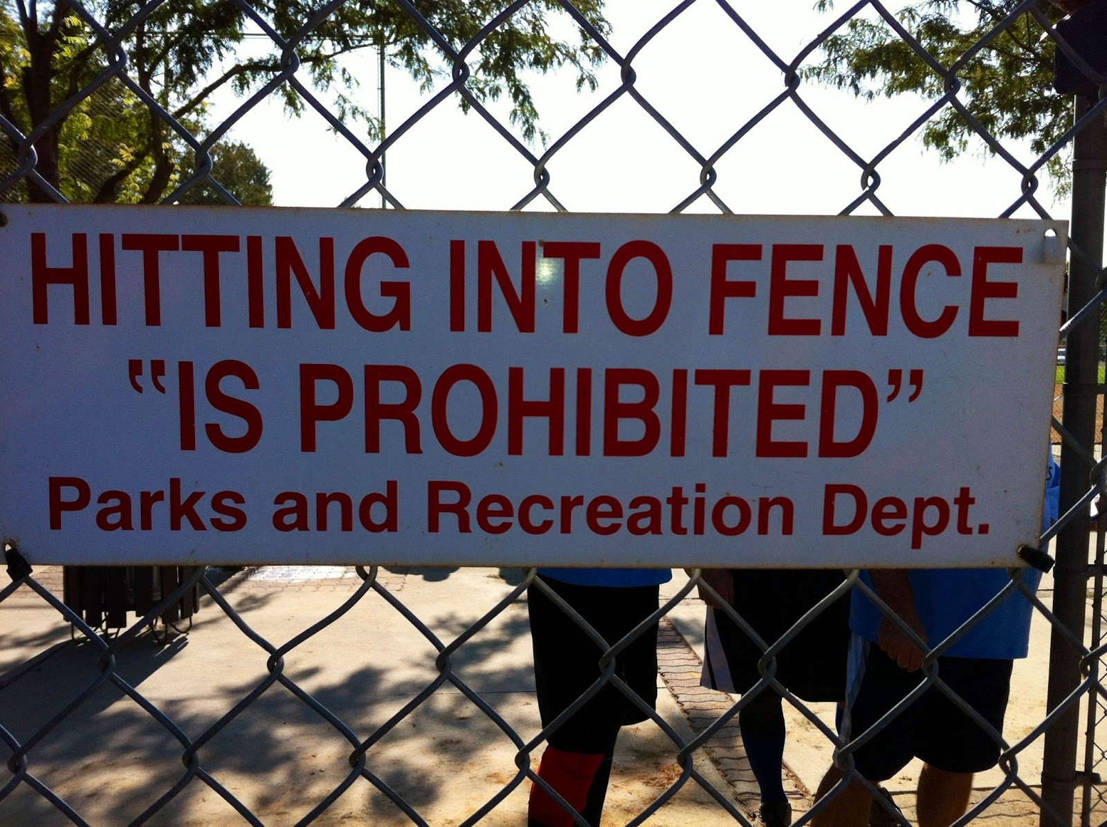 "Fence Quotes The ""Blog"" Of ""Unnecessary"" Quotation Marks Hitting Into Fence"
