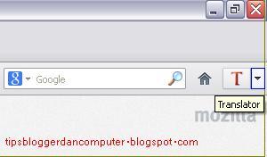 cara memasang google translator di mozilla firefox