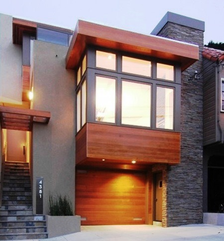 24 fachadas de casas modernas tipos de revestimentos for Materiais para fachadas de casas modernas
