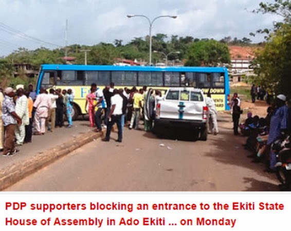 pdp block ekiti house assembly