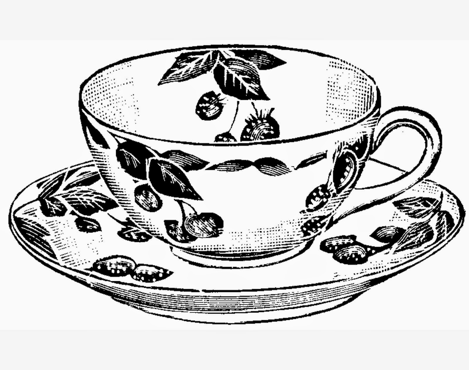Coffee Cup Coloring Drawing Free wallpaper