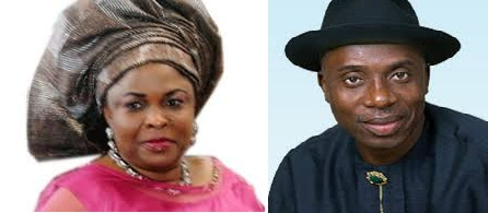 GOVERNOR ROTIMI AMAECHI WITH MRS JONATHAN