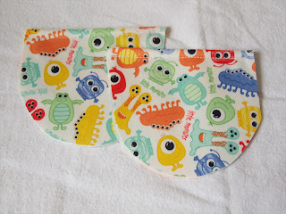 Handmade by Joanne Rich. Velcro tab pockets for cloth diaper cover.