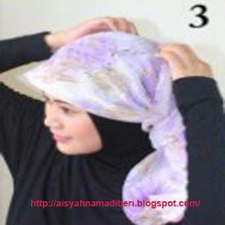 Cara Memakai Jilbab Kreasi Jilbab Paris Sifon Segiempat