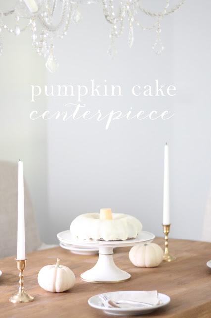 Pumpkin Cake Centerpiece