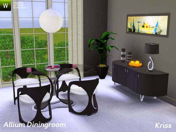 My sims 3 blog kriss 39 allium diningroom for Sims 3 dining room ideas