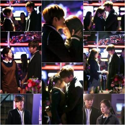 Lee Min Ho gives Park Shin Hye a forehead kiss on 'Heirs'