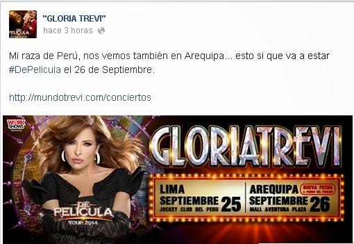 Gloria Trevi en Arequipa 2014