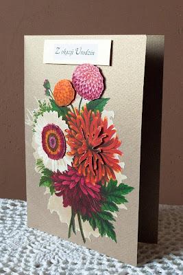 Ręcznie robione kartki urodzinowe