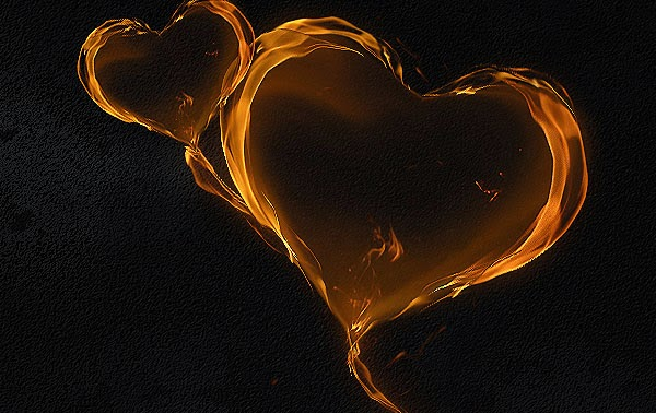 A Magical Flaming Heart Illustration in Photoshop