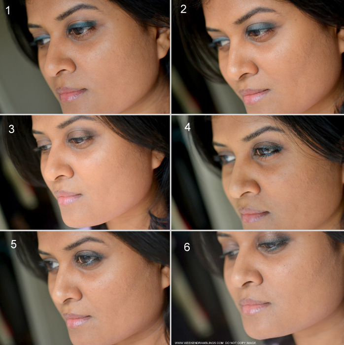 Easy Step by Step Makeup Photo Tutorial How to Bronze Brown Eyeshadow Smudged Dark Green Eyeliner Indian Beauty Blog