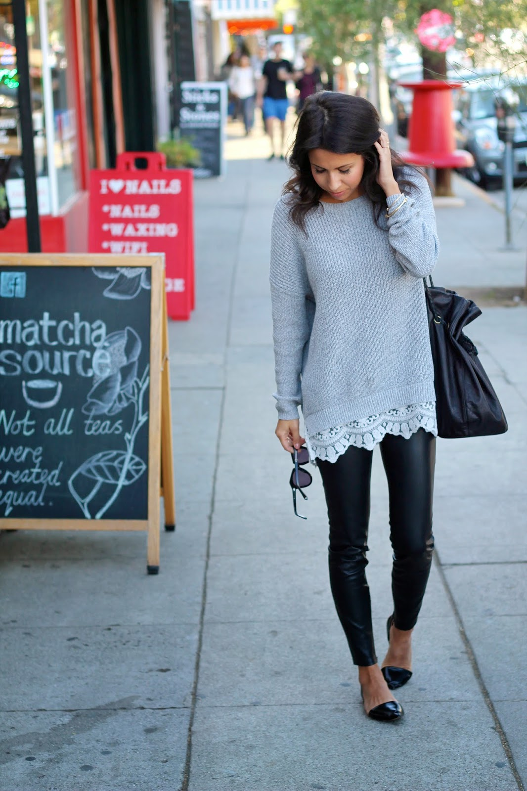 Urban Outfitters Sweater, Leather Pants, How to style leather pants, sweater weather