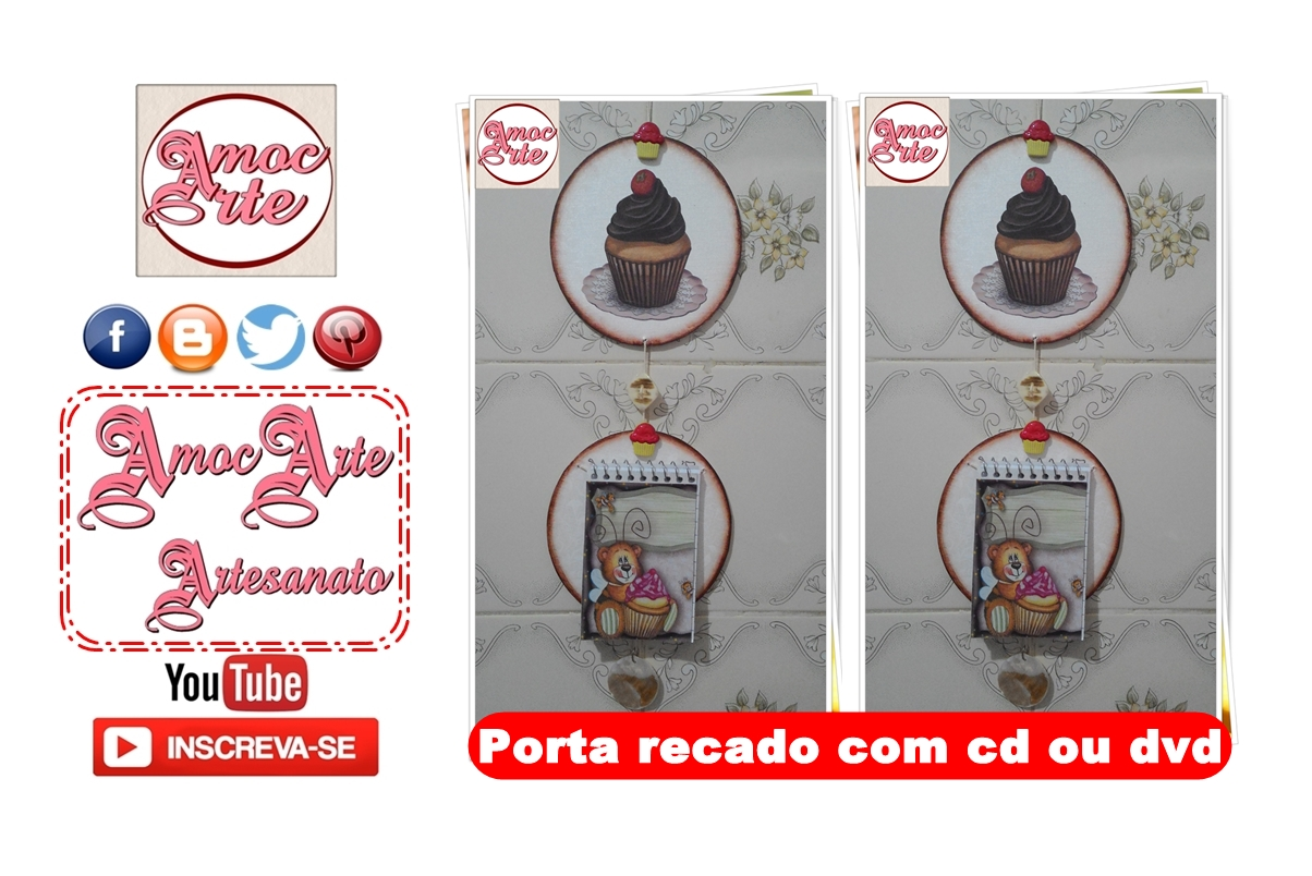 Diy - Porta Recado com cd