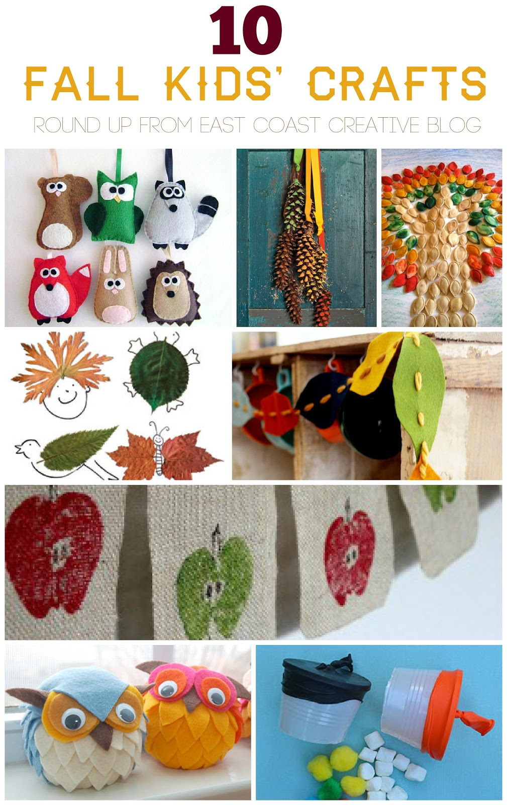 10 fall kids crafts for Crafts to make for kids