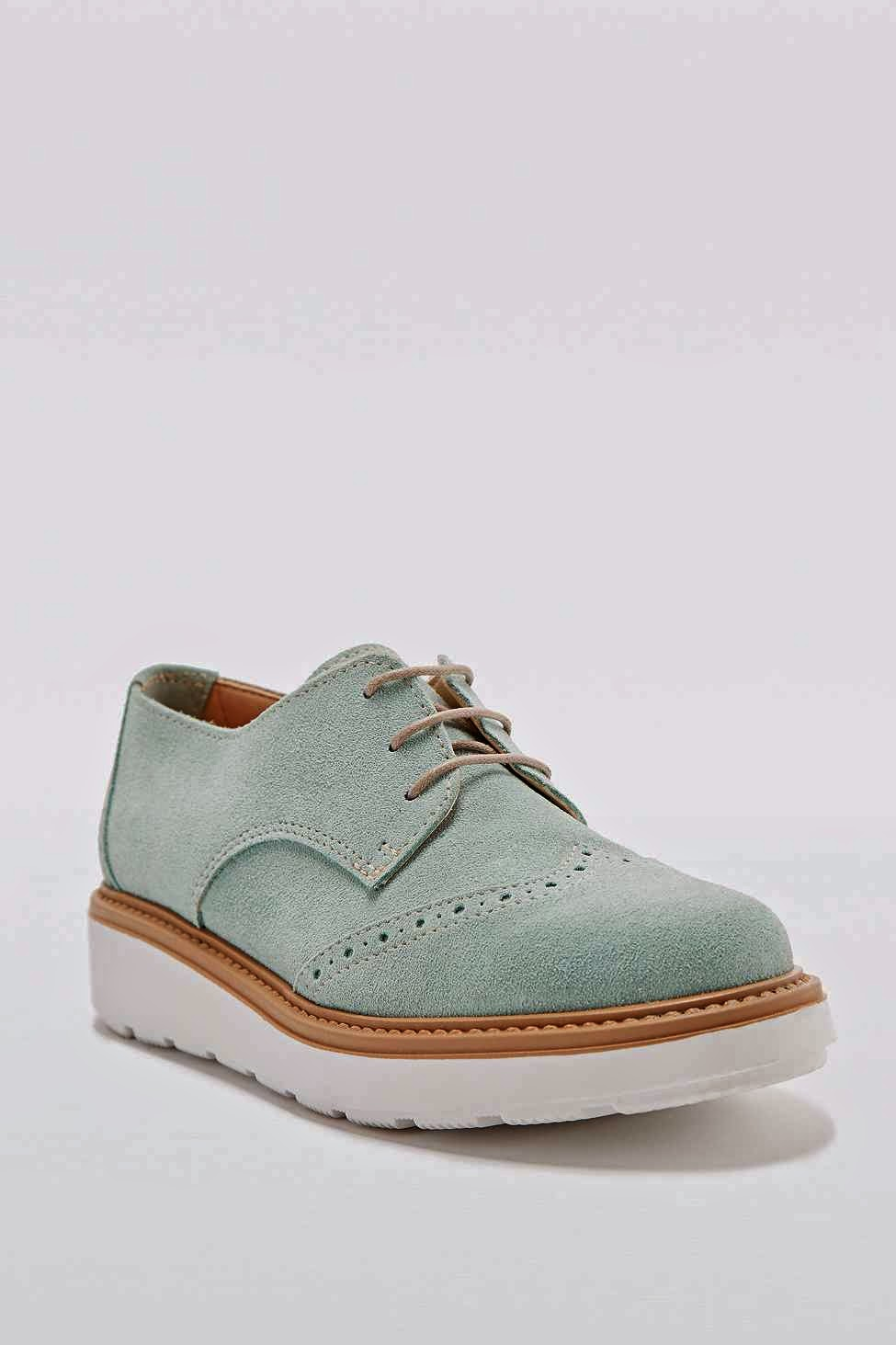 deena ozzy mint suede shoes