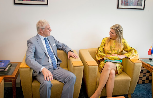 Queen Maxima during a three-day visit to the Philippines, as a special advocate of the Secretary-General of the United Nations