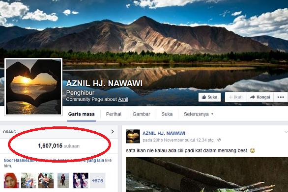 Penggodam diminta kembalikan facebook Pak Nil, info, terkini, hiburan, sensasi, gosip, facebook aznil digodam