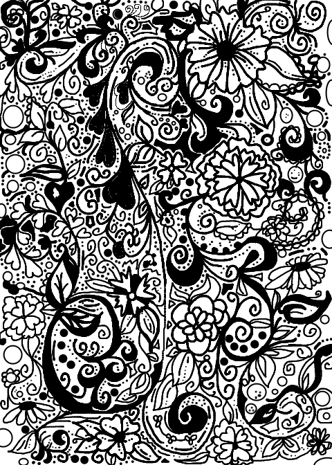 Sweetly scrapped printable art journal pages for Doodle art coloring pages to print