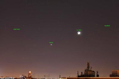 Venus, La Luna, Sagitario y Escorpio en Madrid